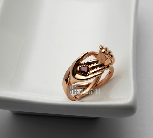 18K Gimmel Ring